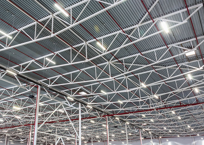 smart lighting system in warehouse